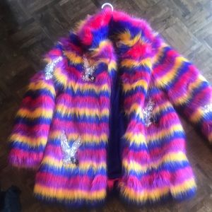 Nasty gal collection faux fur jacket